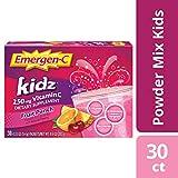 Emergen-C Kidz Vitamin C 250mg Powder (30 Count, Fruit Punch Flavor, 1 Month Supply), Dietary Supplement Drink Mix, Caffeine Free