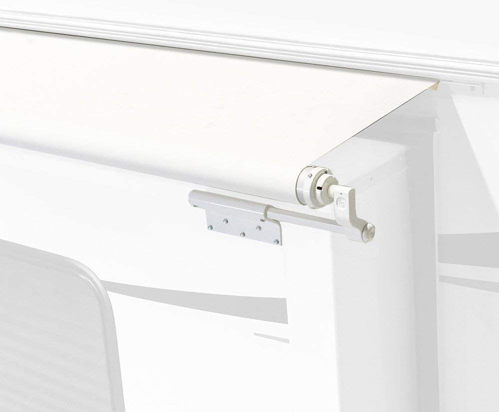 Solera V000163304 White 156 Slide Topper Awning with Mounting Brackets Included 151 Fabric