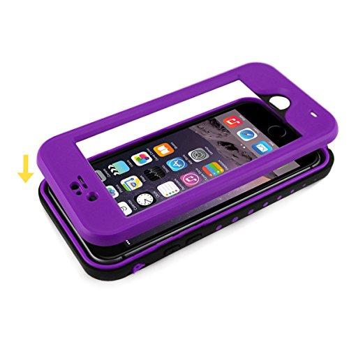 Alienwork Coque pour iPhone 6 Plus/6s Plus adapté à lempreinte digitale Case Etuis Housse étanche Antipoussière Anti-neige Plastique violette AP6P11-10