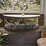 Coveside Panoramic In-house Window Bird Feeder with Mirrored Panel