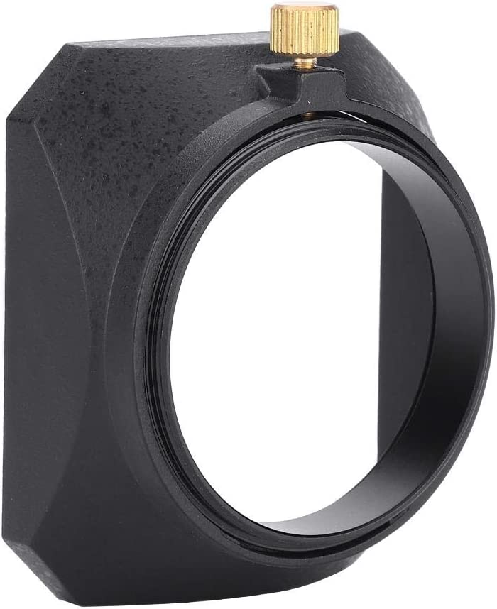49mm Square Lens Hood Shade for DV Camcorder Digital Video Camera Lens Filter or Barrel Thread Delaman Lens Hood