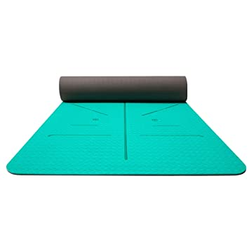 SPORTS Antideslizante Ejercicio Premium Yoga Mat TPE 8mm ...