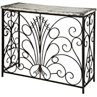 Powell Furniture Parcel Console Table, White