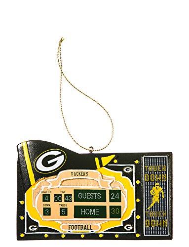 Team Sports America NFL Green Bay Packers Scoreboard Polystone Ornament, Small, - Green Scoreboard Bay Packers