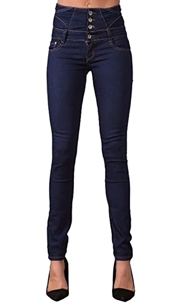 Amazon.com: fashare para mujer talle alto Skinny Jeans ...