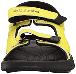 Columbia Youth Techsun Vent Sandal (Infant/Toddler/Little Kid/Big Kid), Zour/Black, 2 M US Big Kid