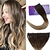 """LaaVoo 16"""" Popular Invisible Flip on Double Weft Human Hair Extension Ombre Color"""