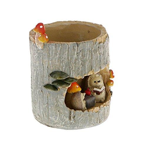 BESTOMZ Cactus Succulent Plant Pot Planter Flower Pot Pen Pencil Holder (Fairy Hedgehog) by BESTOMZ (Image #1)