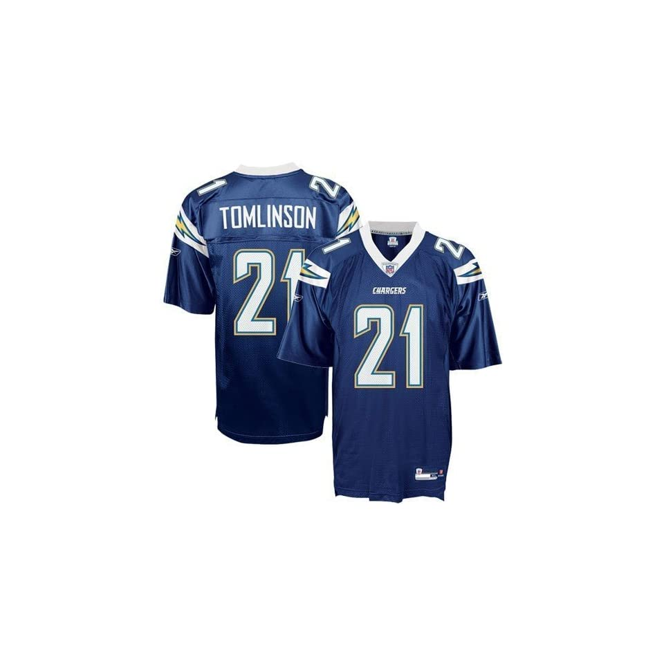 LaDainian Tomlinson #21 San Diego Chargers Authentic NFL Player Jersey (Team Color) (54)