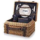 NFL New England Patriots Champion Picnic Basket with Deluxe Service for Two, Navy