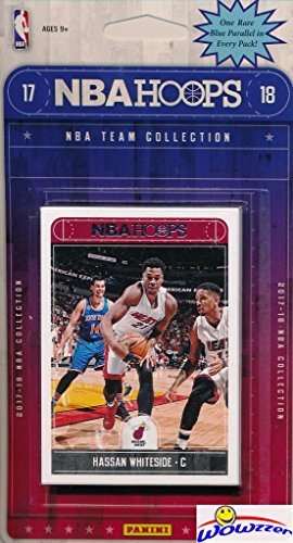 Miami Heat 2017/18 Panini Hoops NBA Basketball EXCLUSIVE Factory Sealed Limited Edition 11 Card Team Set with Goran Dragic, Hassan Whiteside,Dion Waiters & Many More! Shipped in Bubble Mailer! WOWZZER