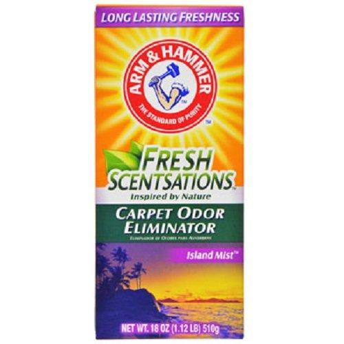 Arm & Hammer Fresh Scentsations Island Mist Carpet Odor Eliminator, 18-oz. Boxes - 12 per order