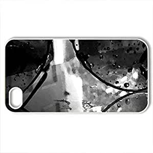 Beaches - Case Cover for iPhone 4 and 4s (Beaches Series, Watercolor style, White)