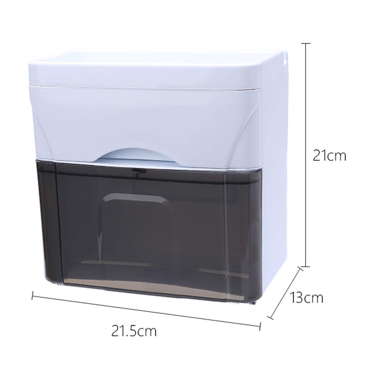 Q&F Wall Mount Toilet Paper Holder, Tissue Holder With Storage Box-waterproof, Moisture Proof-plastic-A by Q&F (Image #2)