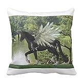 Paint Pegasus Lumbar Home Decor Pillow Cover for Girls Throw Pillowcase Dorm Room Decor Throw Pillows for Couch 45 x 45cm
