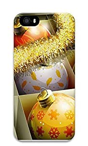 iPhone 5 5S Case HD Christmas Balls 3D Custom iPhone 5 5S Case Cover by ruishername