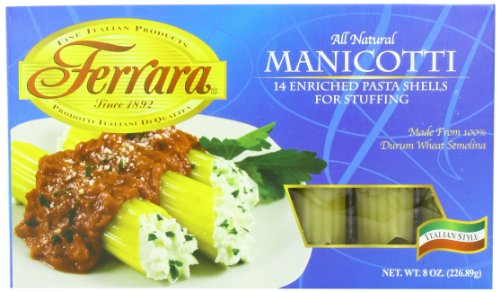 Pasta, Manicotti, 8 Ounce (Pack of 12)