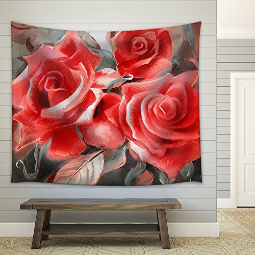 Hand Painted Rose Motif - 4