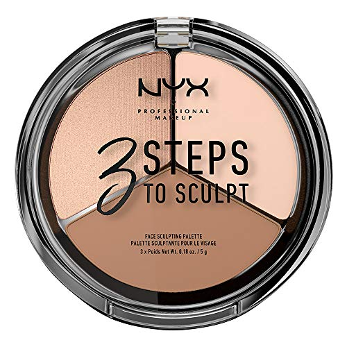 NYX Nyx professional makeup 3 steps to sculpt face sculpting palette, fair, 0.54 ounce