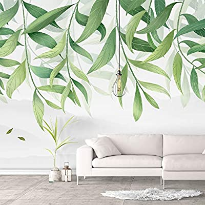 Incredible Portrait, Created Just For You, Wall Murals for Bedroom Green Plants Animals Removable Wallpaper Peel and Stick Wall Stickers