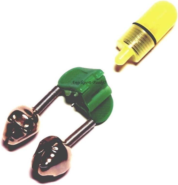 Aalglocke 2-k/öpfig mit praktischer LED Beleuchtung Leuchtdiode Angel-Glocke m