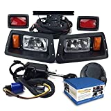 NEW RecPro YAMAHA G14-G22 GOLF CART DELUXE STREET LEGAL HALOGEN LIGHT KIT w/ LED TAIL LIGHT