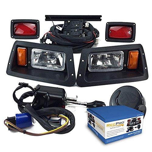 (NEW RecPro YAMAHA G14-G22 GOLF CART DELUXE STREET LEGAL HALOGEN LIGHT KIT w/ LED TAIL LIGHT)