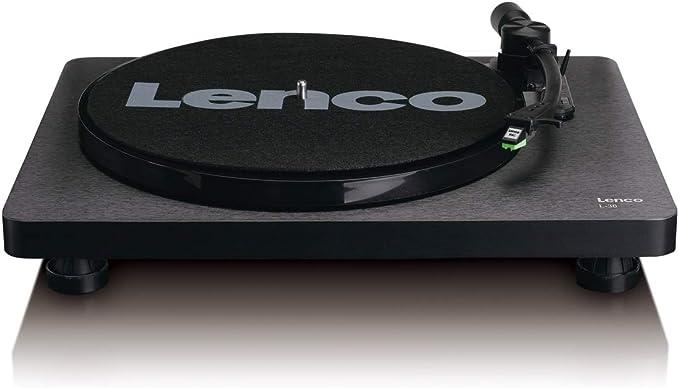 Lenco L-30BK Tocadisco - Tocadiscos (Tocadiscos de Tracción por ...