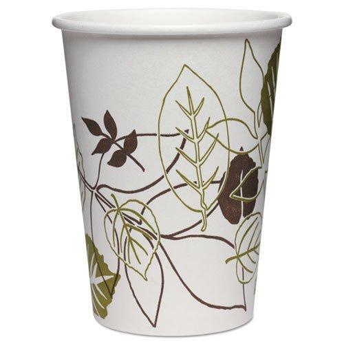 Dixie - Pathways Paper Hot Cups, 8 oz, White/Green, 50/Pack 2338PATHPK (DMi PK