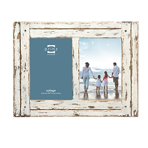 PRINZ 2 Opening Homestead Antique Wood Collage Frame, 5 x 7, White Review