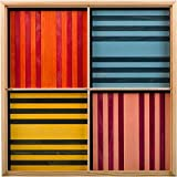 Kapla OCTOCOLOR, 100Piastrine in legno, 8colori assortiti