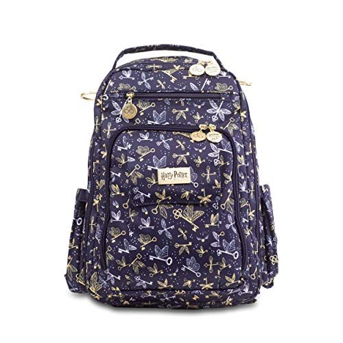 JuJuBe x Harry Potter Backpack, Be Right Back | Travel-Friendly, Compact Stylish Backpack Purse, Adjustable Straps, for Kids and Adults | Flying Keys