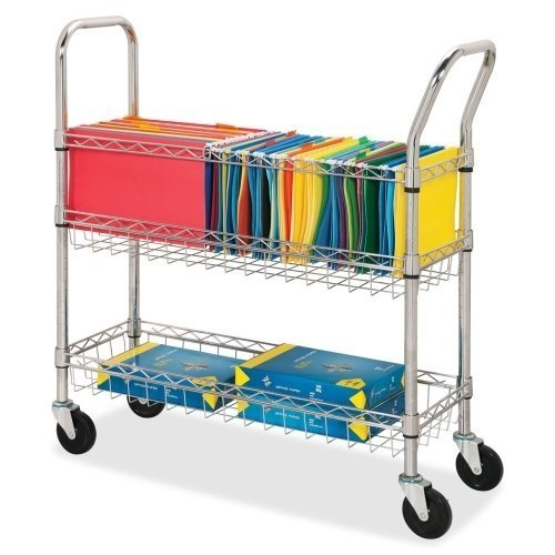 Lorell LLR84857 Wire Mail Cart by Lorell