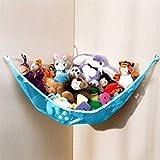 Generic Stuffed Animal & Toy Organizer Hammock Pet Net Blue Net and Trim