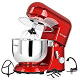 CHEFTRONIC Electric Stand Mixer Tilt-Head 650W/120V 5.5QT SM986-red Deal (Small Image)