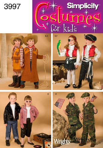 Simplicity Sewing Pattern 3997 Child Costumes, A (3-4-5-6-7-8) (Child Pirate Costumes Pattern)