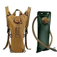Zooron Trinkrucksack, verstellbar, langlebig, 3-l-Trinksystem, zum Wandern, Trink-Schultertasche, zum Radfahren, mit Wasserblase