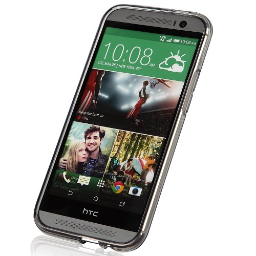 KAYSCASE HTC One Plus (HTC One+, HTC One Plus, HTC ONE 2, M8, the All New One) Soft Gel TPU Cover Case,2014 Version (Lifetime Warranty) (Smoked)