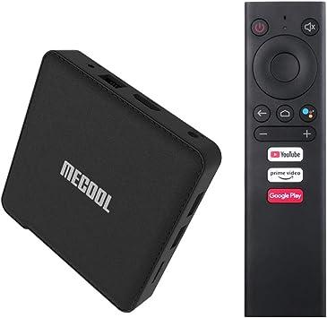 MECOOL KM1 Classic TV Box | ANDROIDTV Google Certificado|Google Cast Integrado |Control por Voz Google Assistant | con Amlogic S905X3 2GB RAM + 16GB ROM | USB3.0,2.0 Bluetooth 4.2 H.264 H.265 HDR10 |: Amazon.es: Electrónica