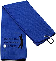 PXTIDY Grandpa Golf Towel New Grandpa Gift The Best Dads Get Promoted to Grandpa Embroidered Golf Towel Gift f
