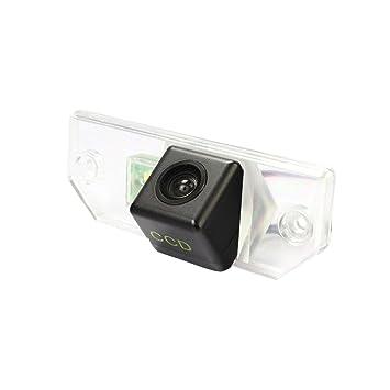 3 Carriage Portatarga Videocamera HD per Impermeabile retrovisore Telecamera da Retromarcia per Mondeo Focus C-Max Focus Sedan 2 Carriage Focus