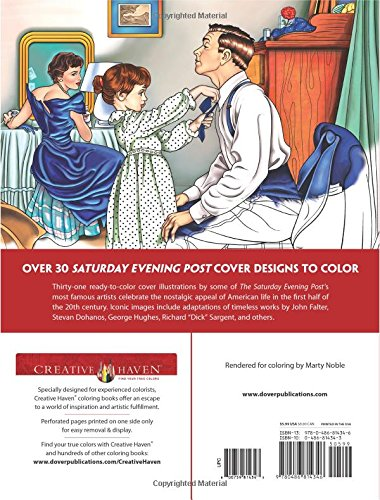 creative haven the saturday evening post americana coloring book adult coloring marty noble 9780486814346 amazoncom books