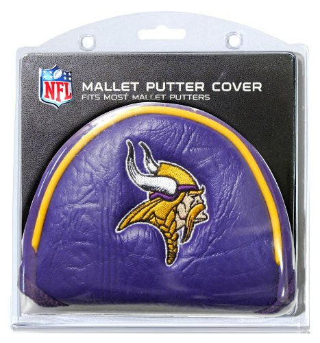 (Team Golf NFL Minnesota Vikings Golf Club Mallet Putter Headcover, Fits Most Mallet Putters, Scotty Cameron, Daddy Long Legs, Taylormade, Odyssey, Titleist, Ping, Callaway)