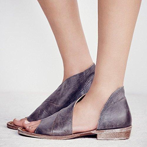 Plano Verano Zapatos Romanoas Peep Mujer Playa Moda De Planos Jianhui Sandalias Abierto Casuales Toe Chancletas w0qYx6