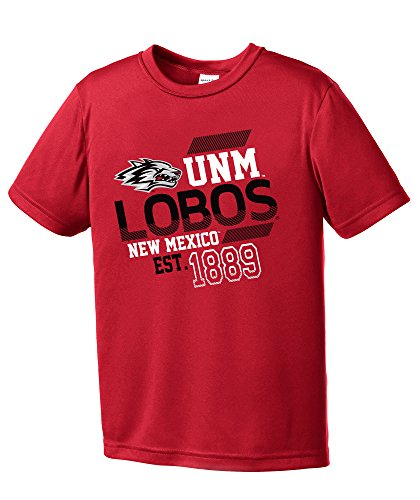 NCAA New Mexico Lobos Youth Boys Offsides Short sleeve Polyester Competitor T-Shirt, Youth (Mexico Polyester)