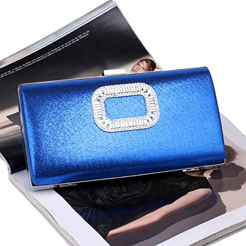 Classic Ladies Sera Purse Da Borsa Fashion Evening Donna Busta Clutch Blue Bag rxzF0wvr