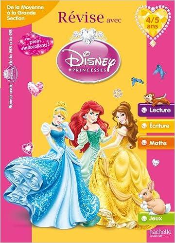 Livre gratuits en ligne Révise avec les Princesses - De la moyenne à la grande section de maternelle 4/5 ans pdf ebook