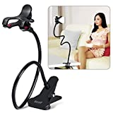 Cell Phone Holder, Breett Universal Cell Phone Clip Holder Lazy Bracket Flexible Long Arms for iPhone 6 plus/6/5s//5/4S/4, GPS Devices, Fit On Desktop Bed Mobile Stand for Bedroom, Office, Bathroom, Kitchen, etc.