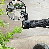 Sunnymal - Espejos retrovisores universales ajustables para bicicleta, para manubrio, de seguridad, accesorios, 1 par