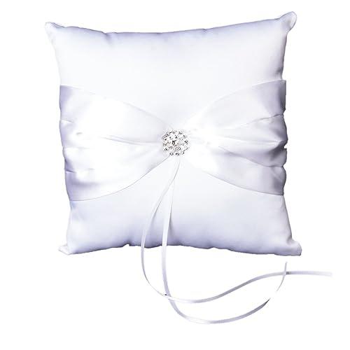 SODIAL(R) Cojin con lazo para alianzas, color blanco White ...